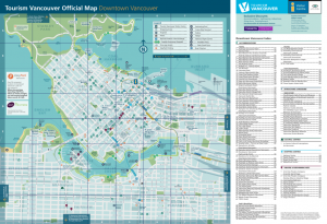 Tourist Map of Vancouver