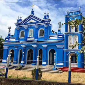 Ornately decorated churches on our journey to Anuradhapura, Sri Lanka.