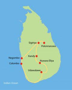 Sri Lanka Express Route