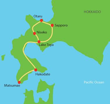 Hokkaido Tour Route