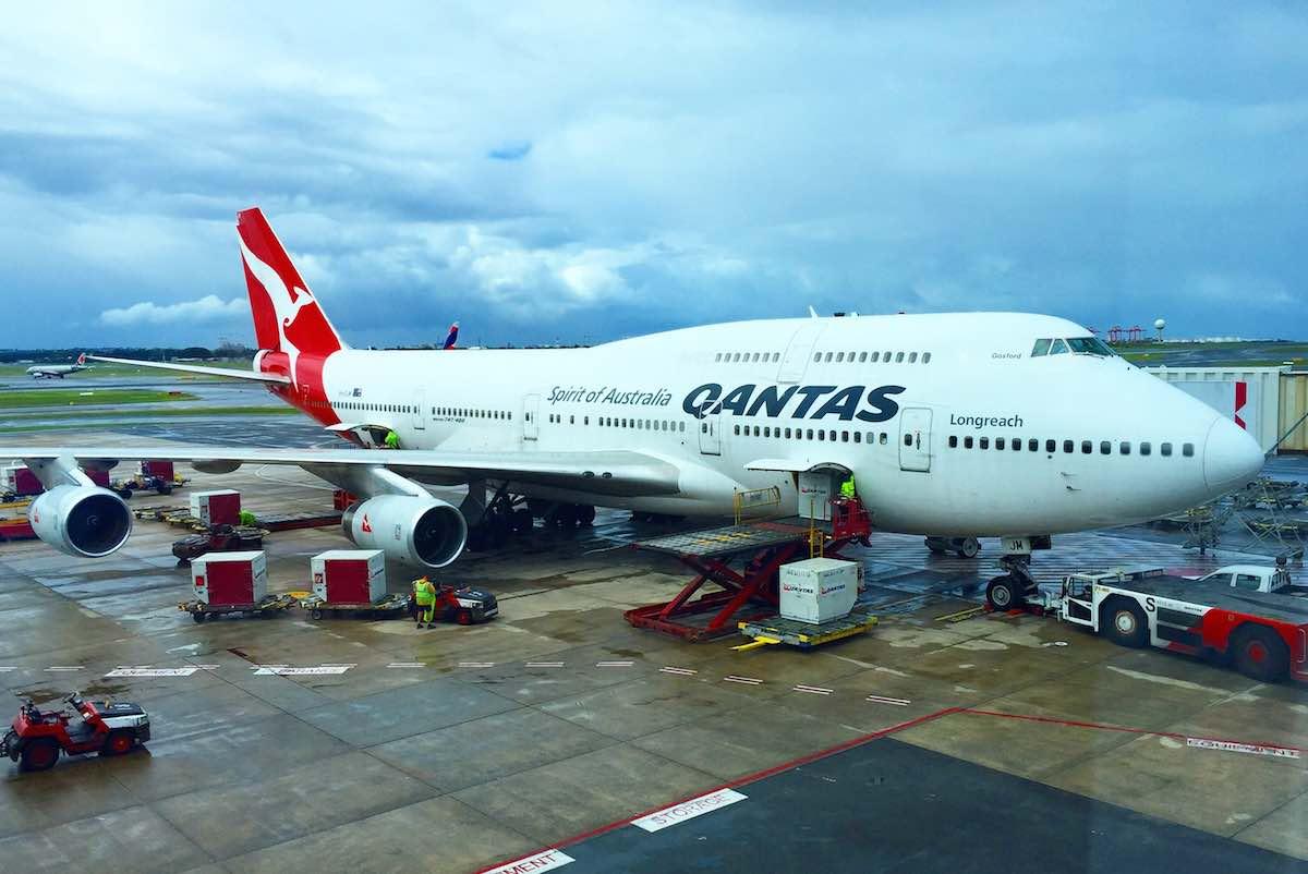 Qantas 747 Sydney to Santiago